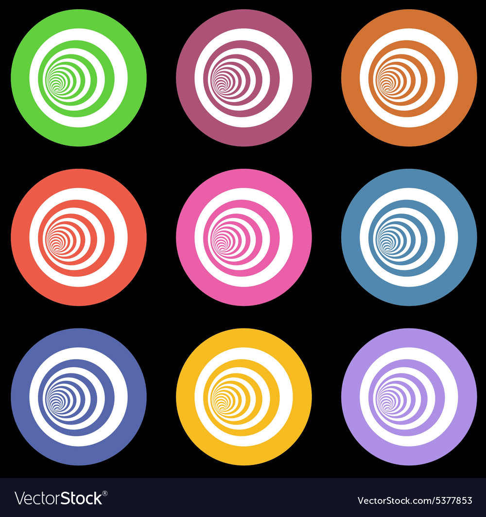 Multiple vortex with concentric stripes in differe vector