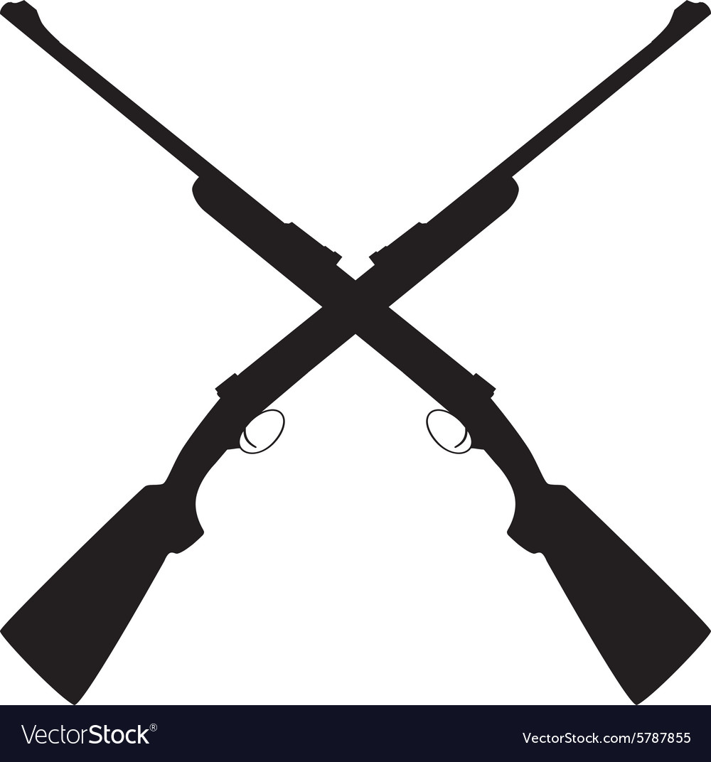 Crossed rifle vector