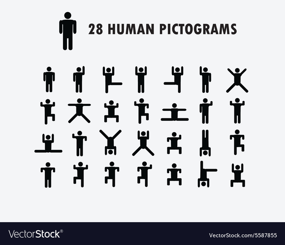 Human pictogram icons vector