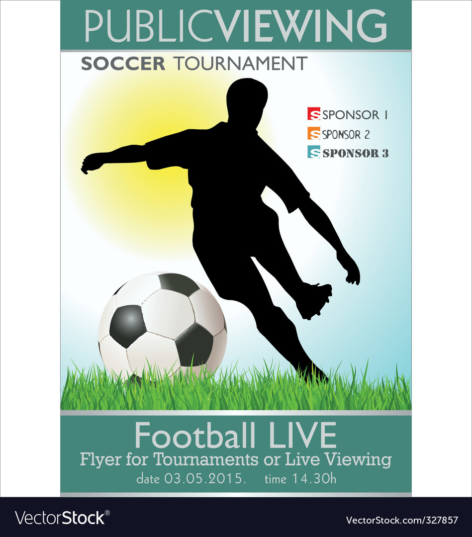 Soccer tournament flyer vector