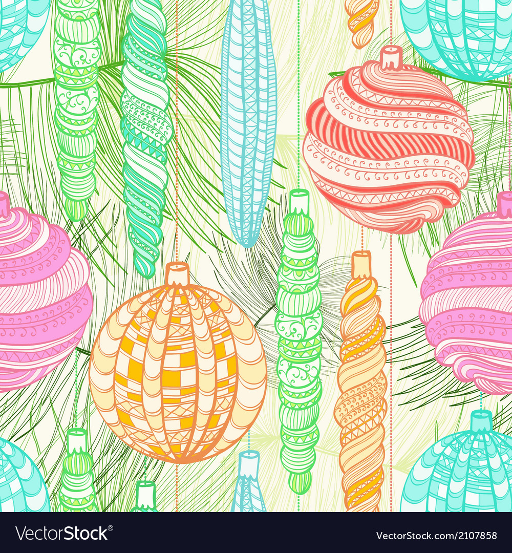 Seamless christmas vintage pattern vector