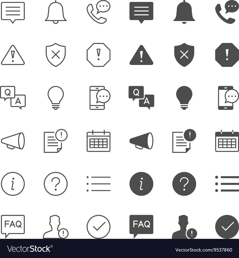 Information and notification icons vector
