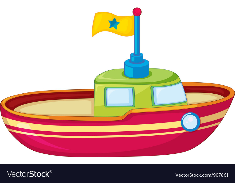 Toy boat vector