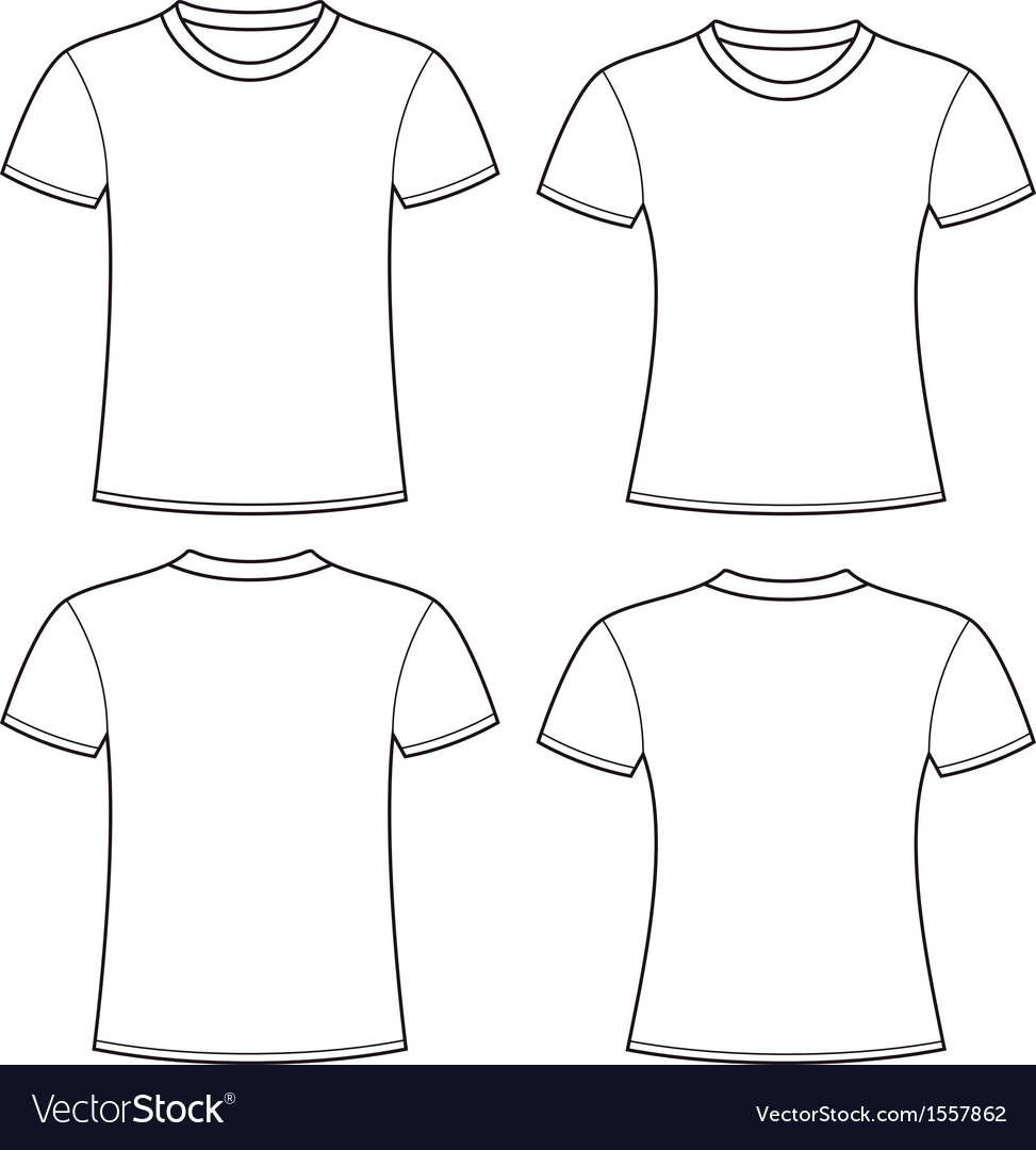 Blank tshirts template vector
