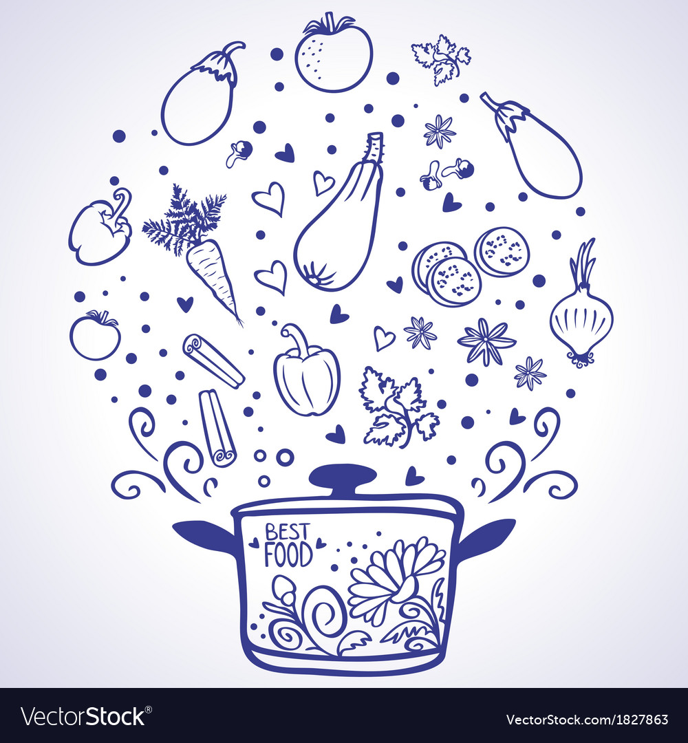 Vegetable ragout vector