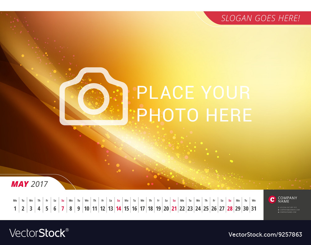 Wall monthly line calendar for 2017 year design vector