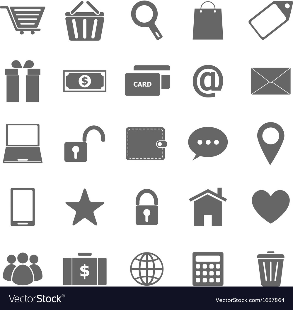 Ecommerce icons on white background vector