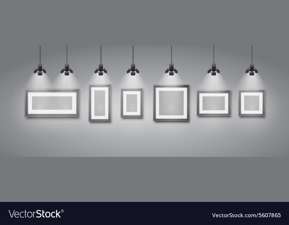 Gallery room vector