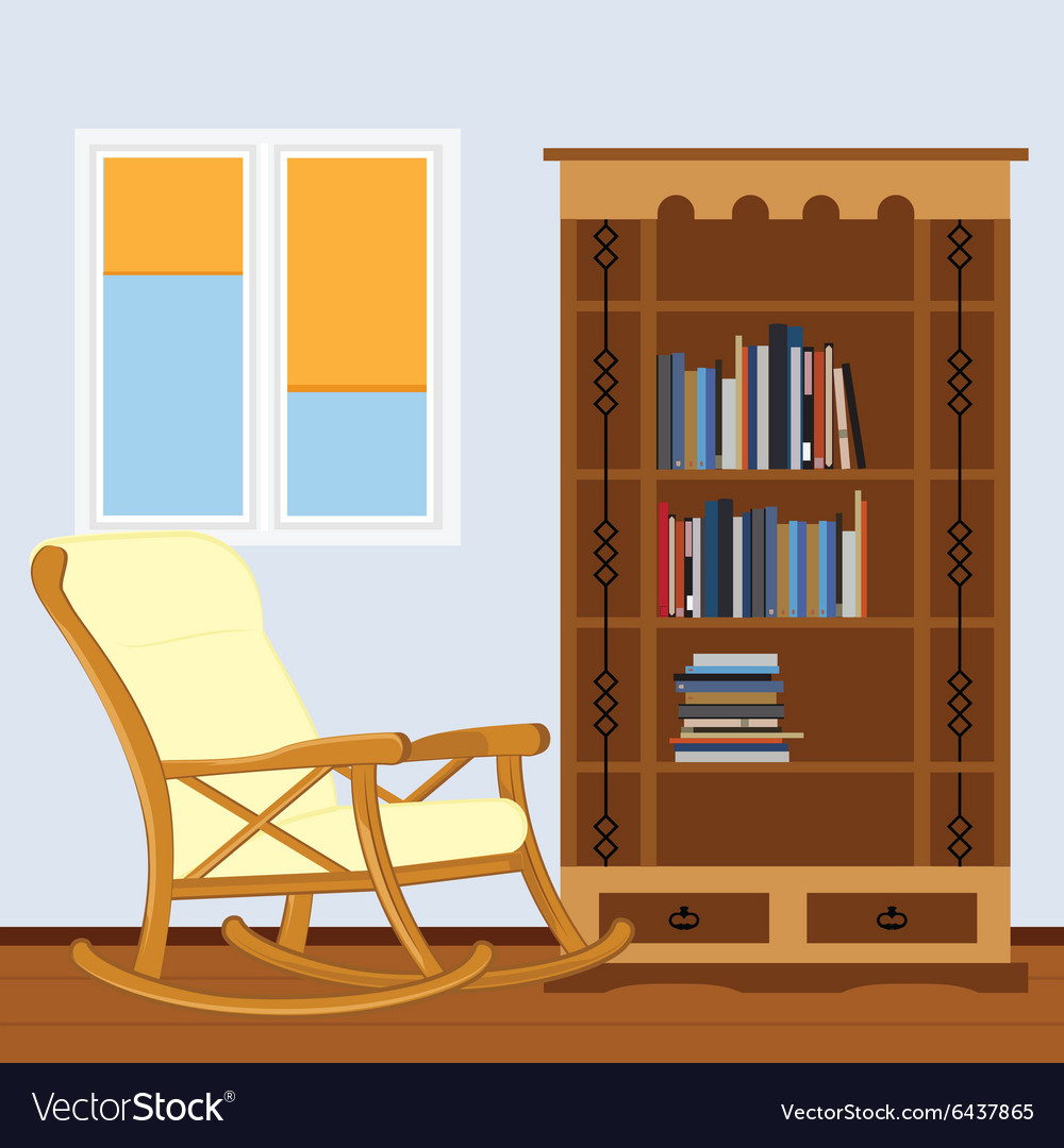 Reading room vector