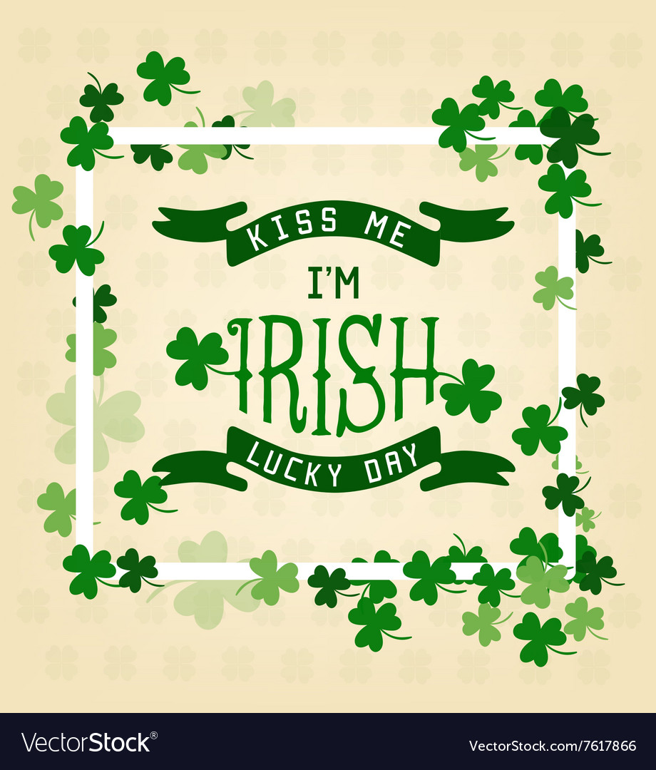 Saint patricks day typographical vector
