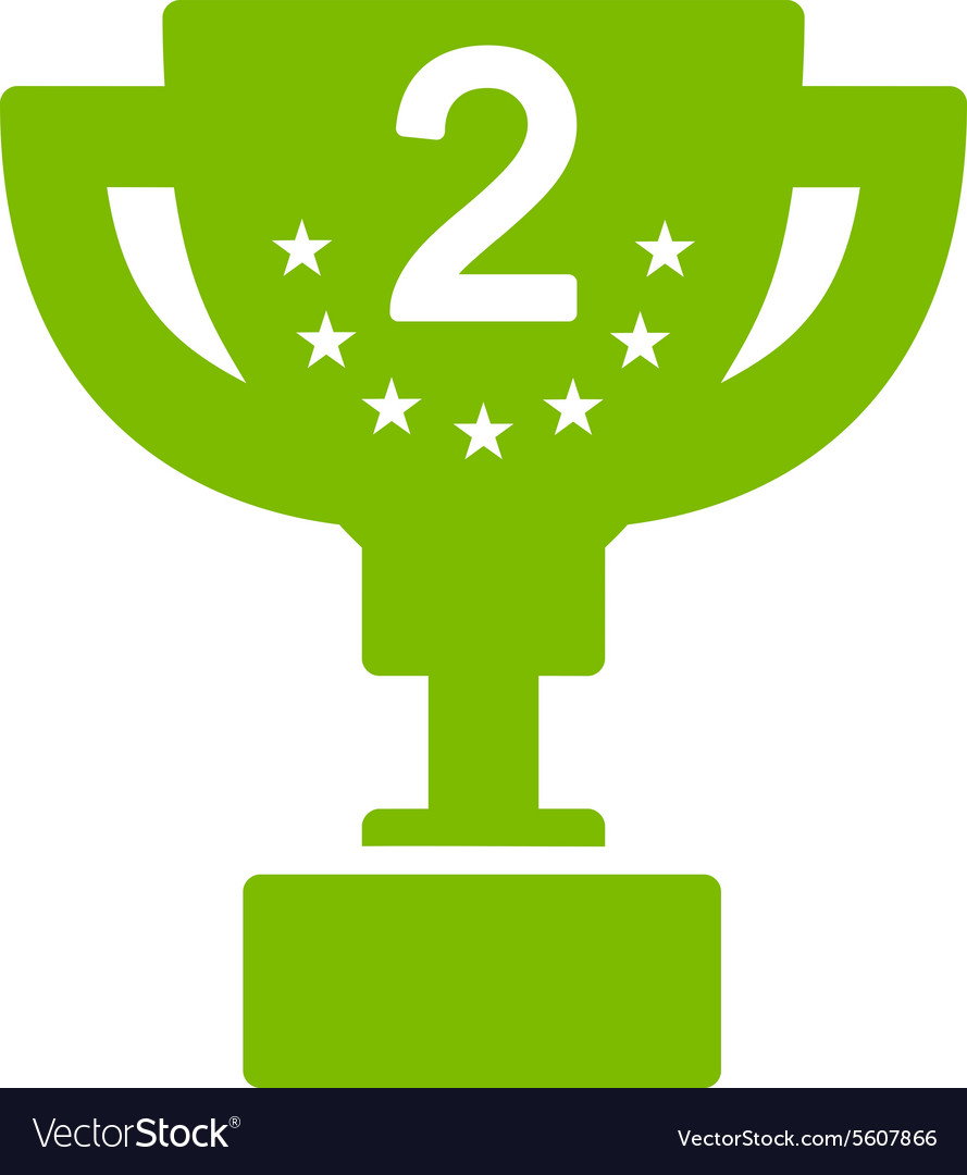 Second prize icon from competition success vector