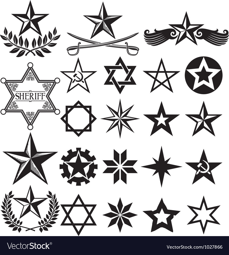 Set of stars vector