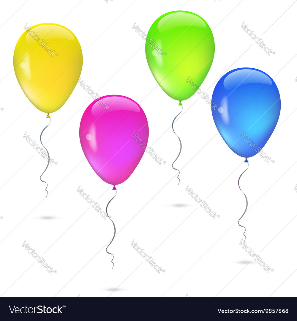 Set of balloons various colors vector