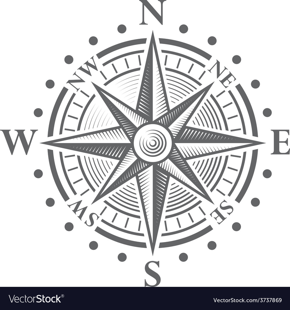152 compass rose vector
