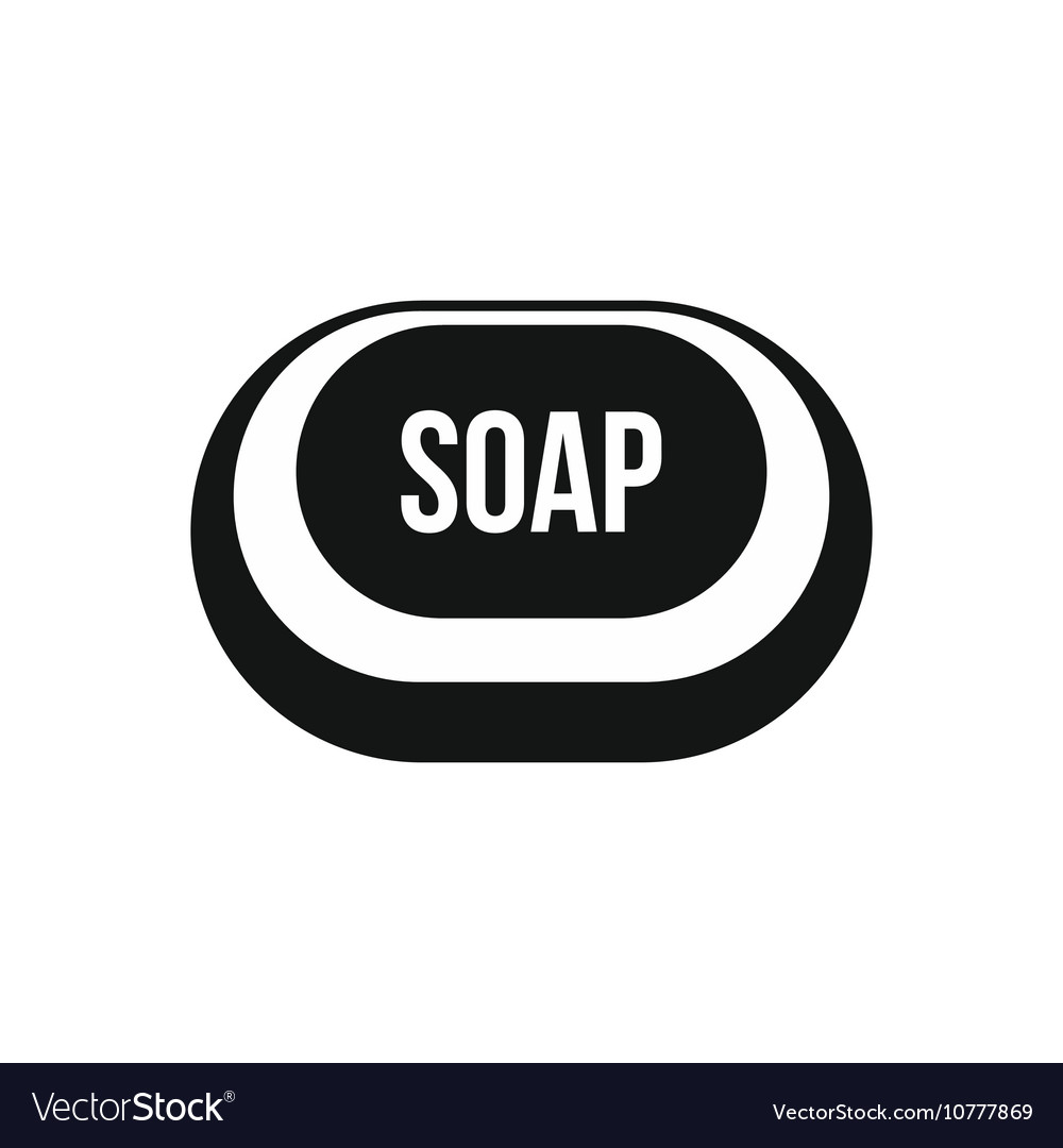 Soap icon in simple style vector
