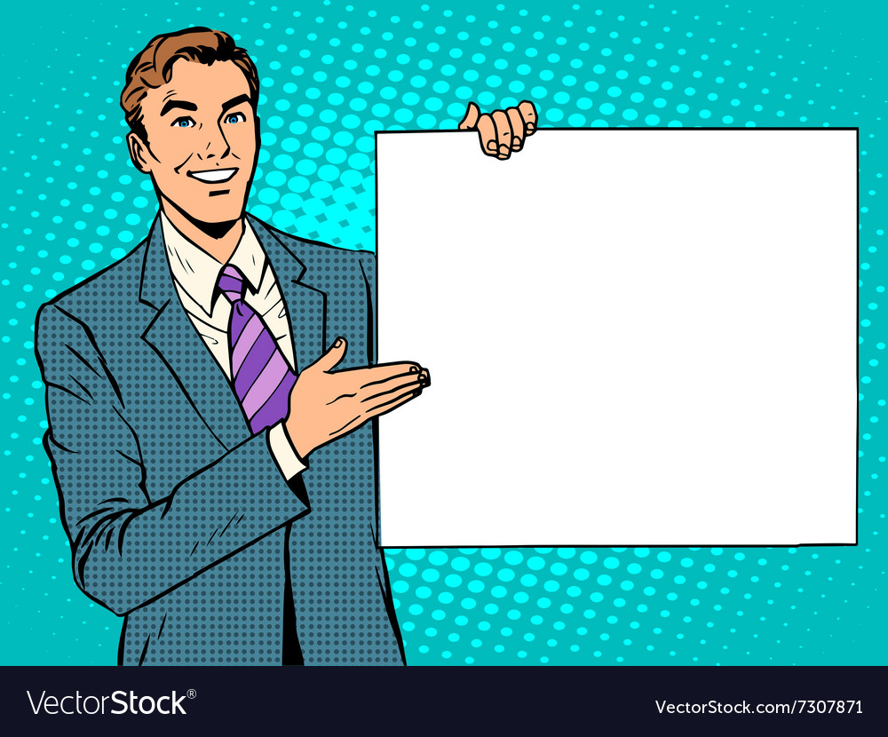 Businessman advertising announcement your brand vector