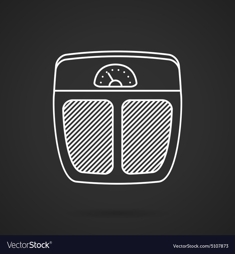 Floor scales white line icon vector