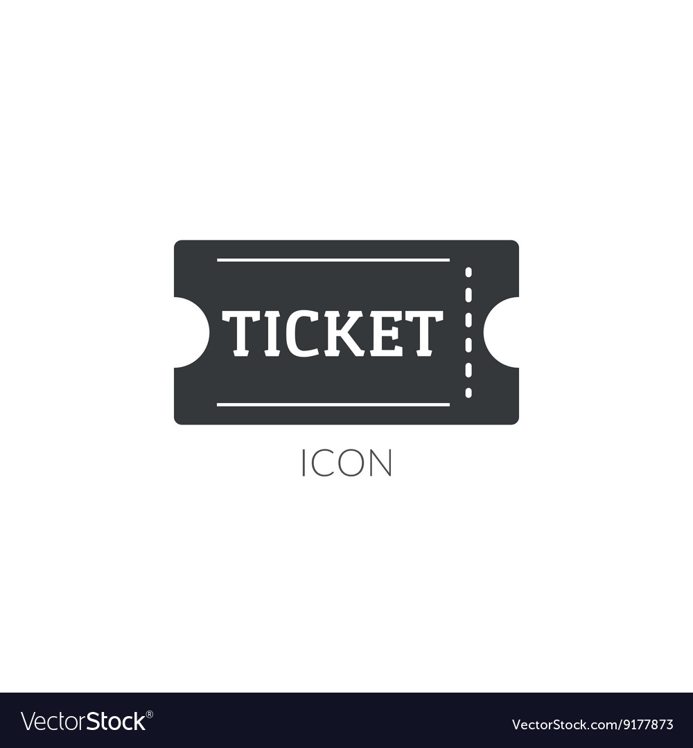 Ter movie ticket icon logo ticket vector