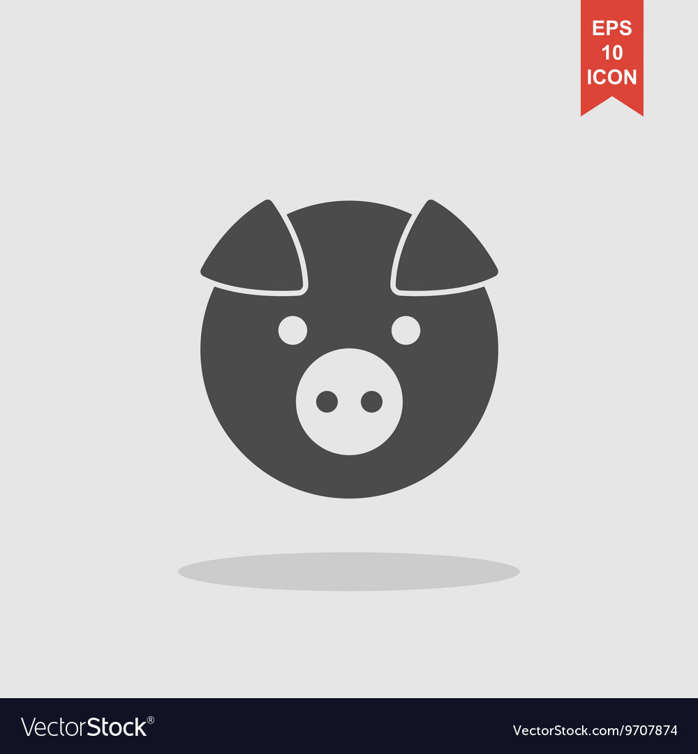 Pig icon concept for design vector
