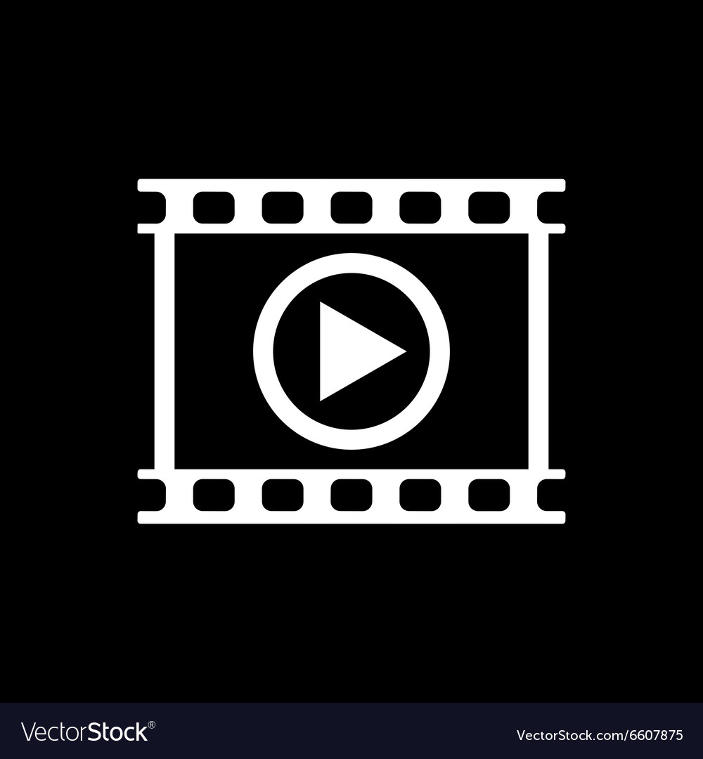 Video icon play and player movie cinema vector