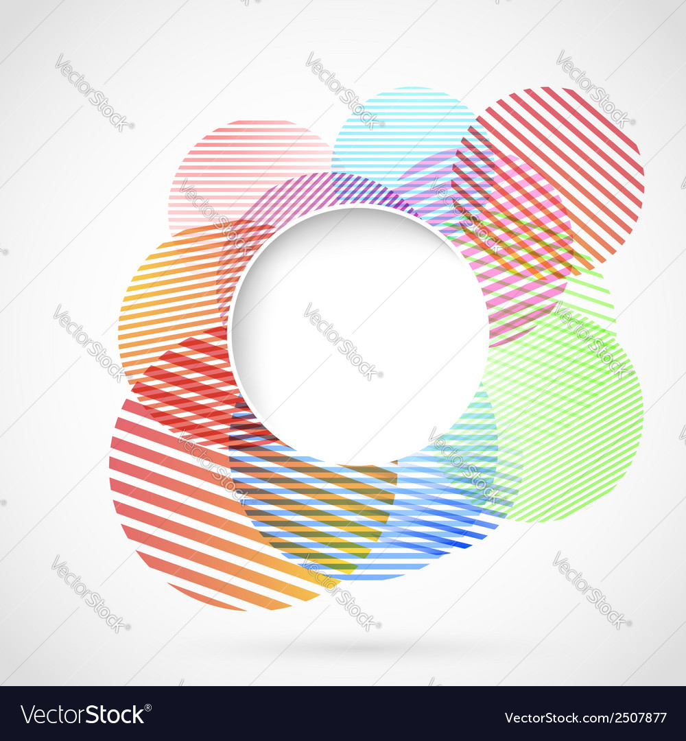 Bright retro circle design element vector