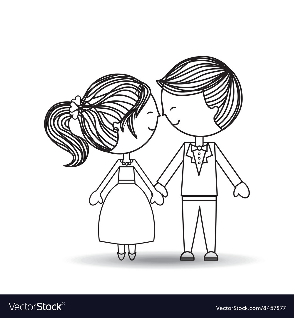 Couple relationships design vector