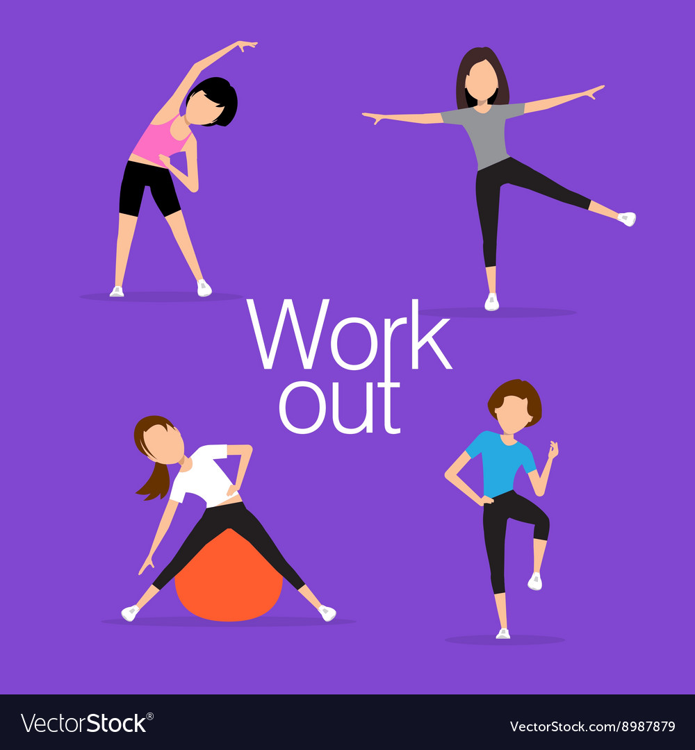 Aerobics train create a beautiful figure vector