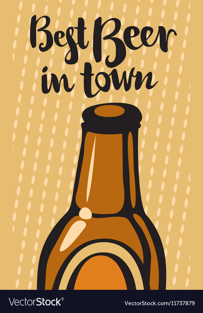 Best beer and town vector