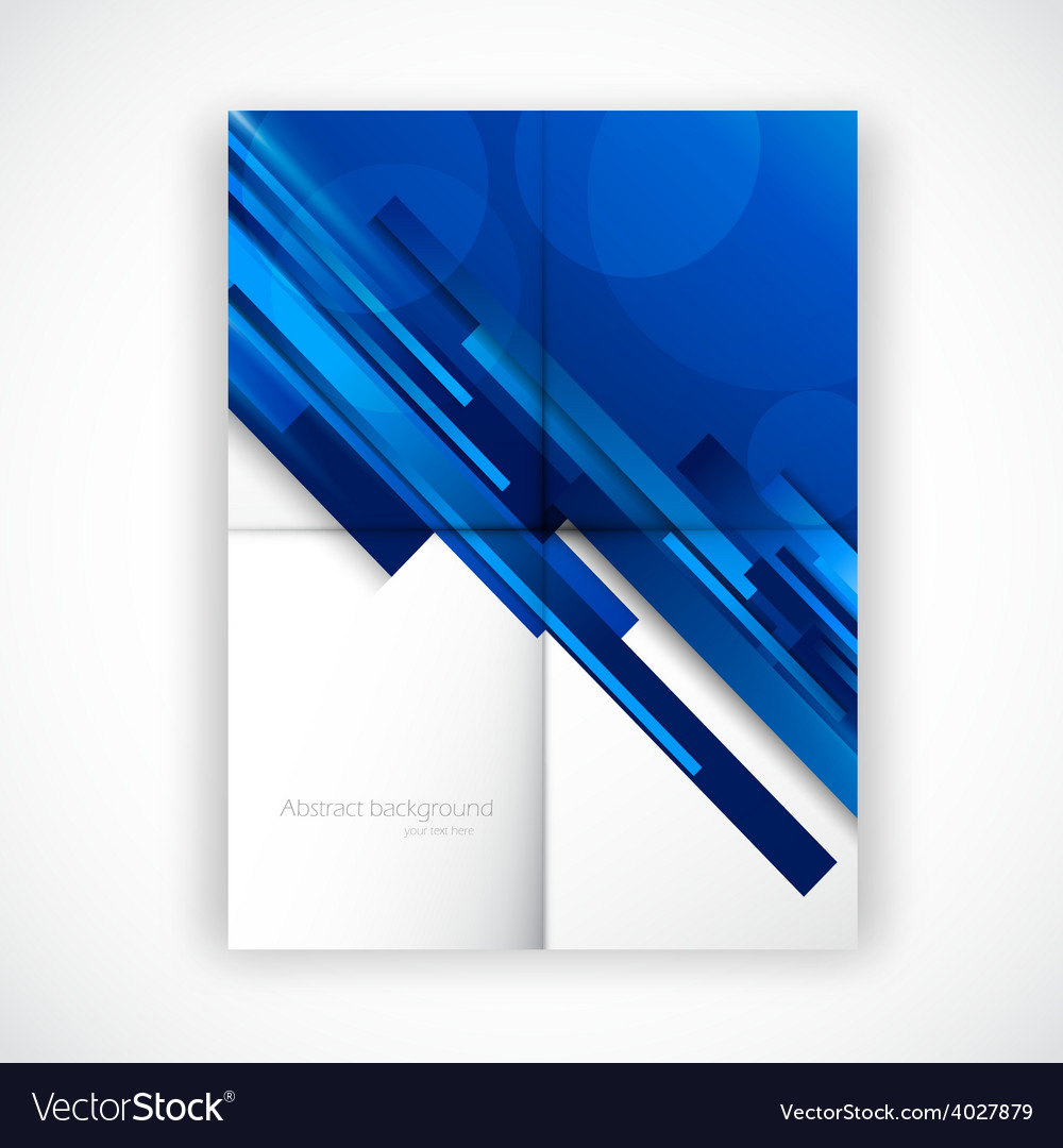 Folded flyer vector
