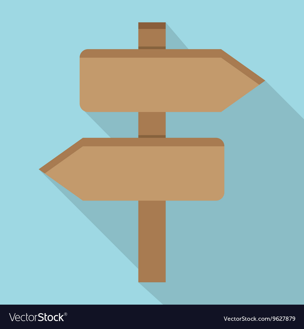 Two wooden arrow vector