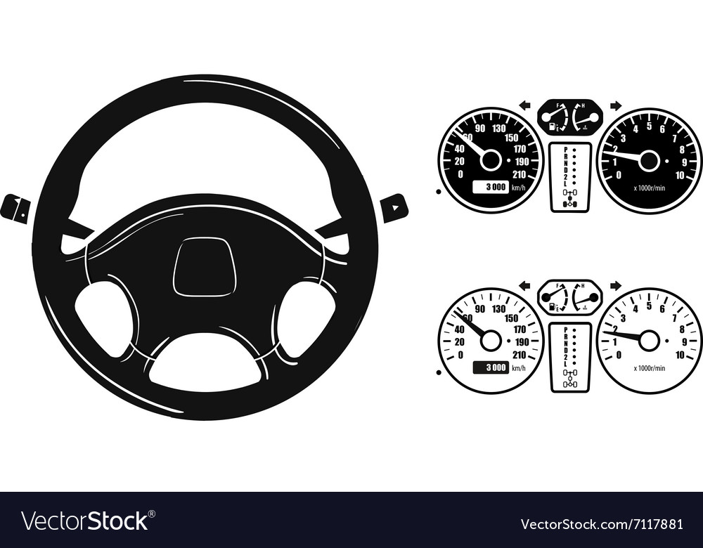 Icon steering wheel vector
