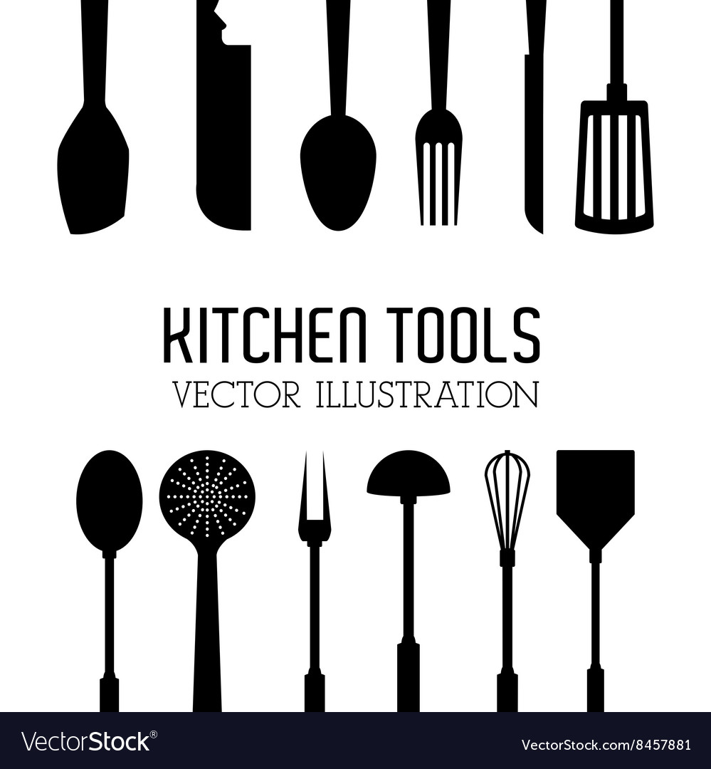 Kitchen tools editable vector