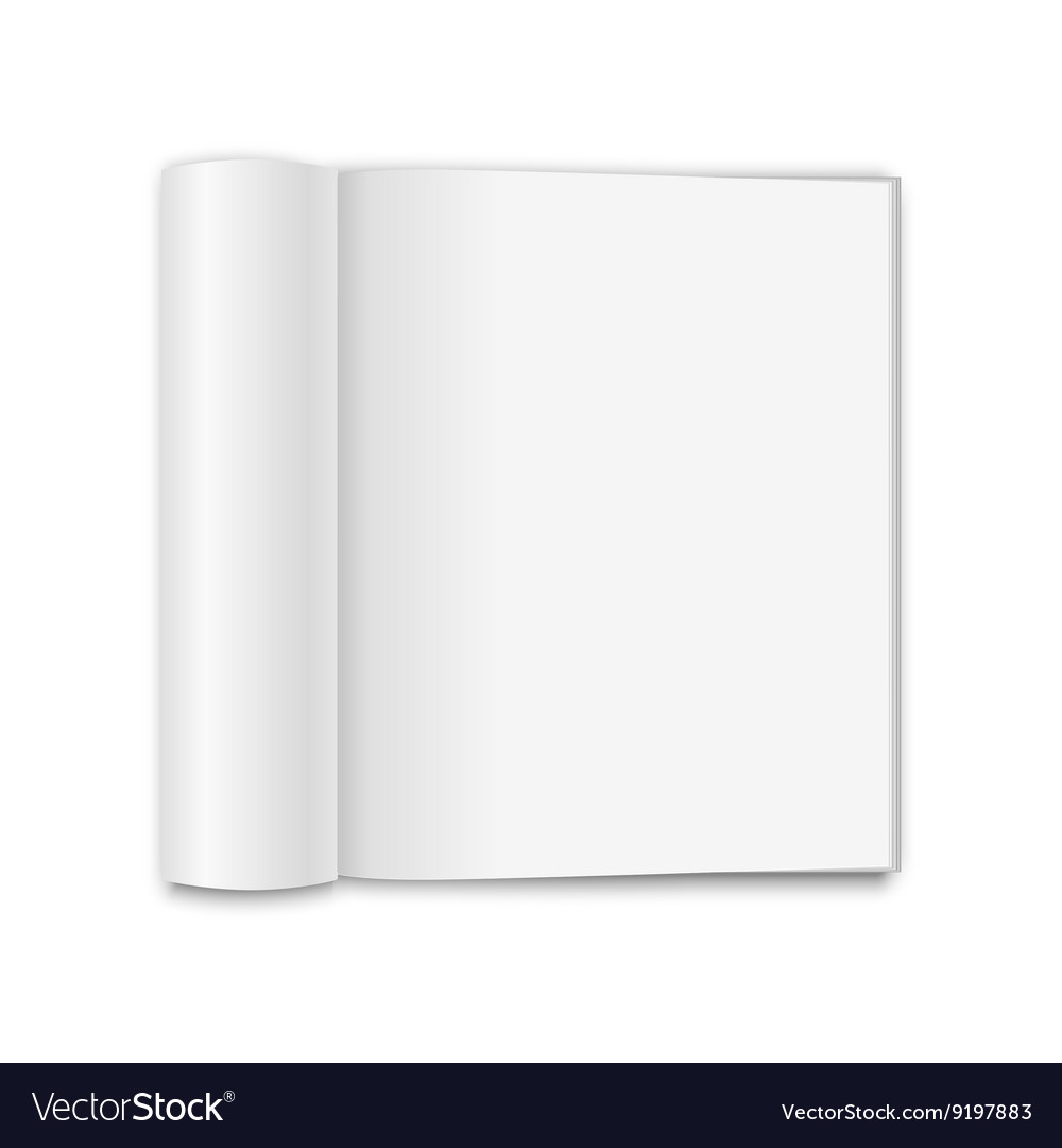 Blank opened magazine vector