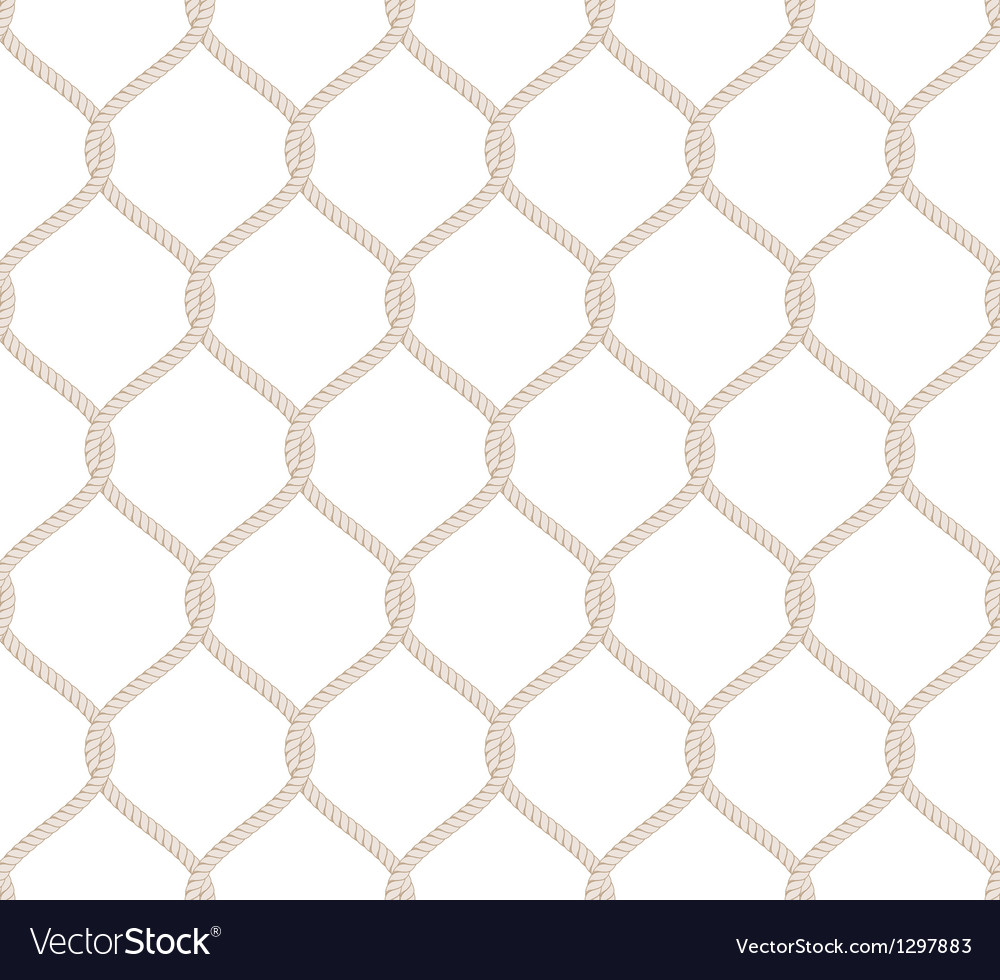 Rope knot seamless pattern vector