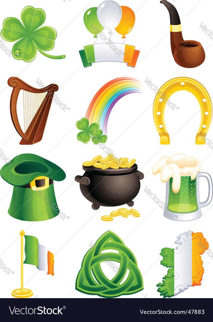 St patricks icon vector