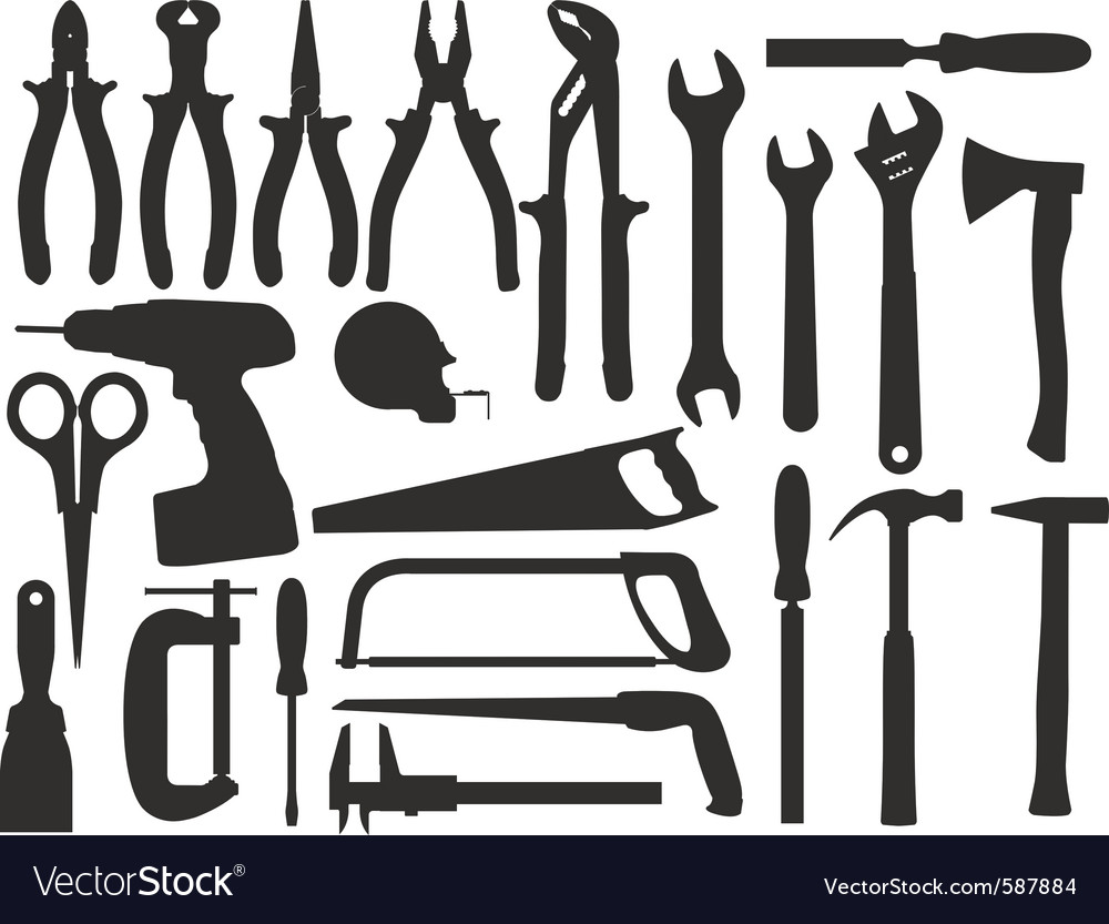 Hand work tools vector