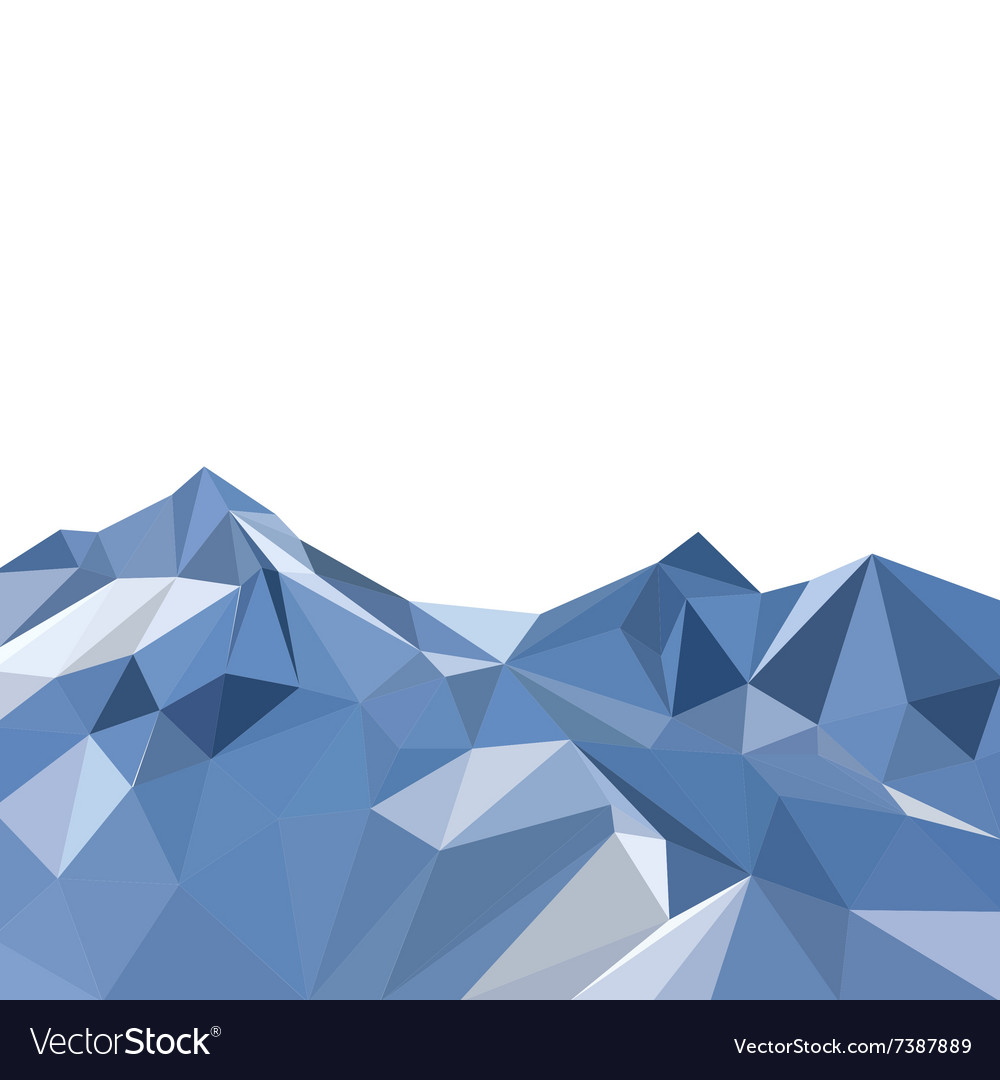 Background with mountains vector