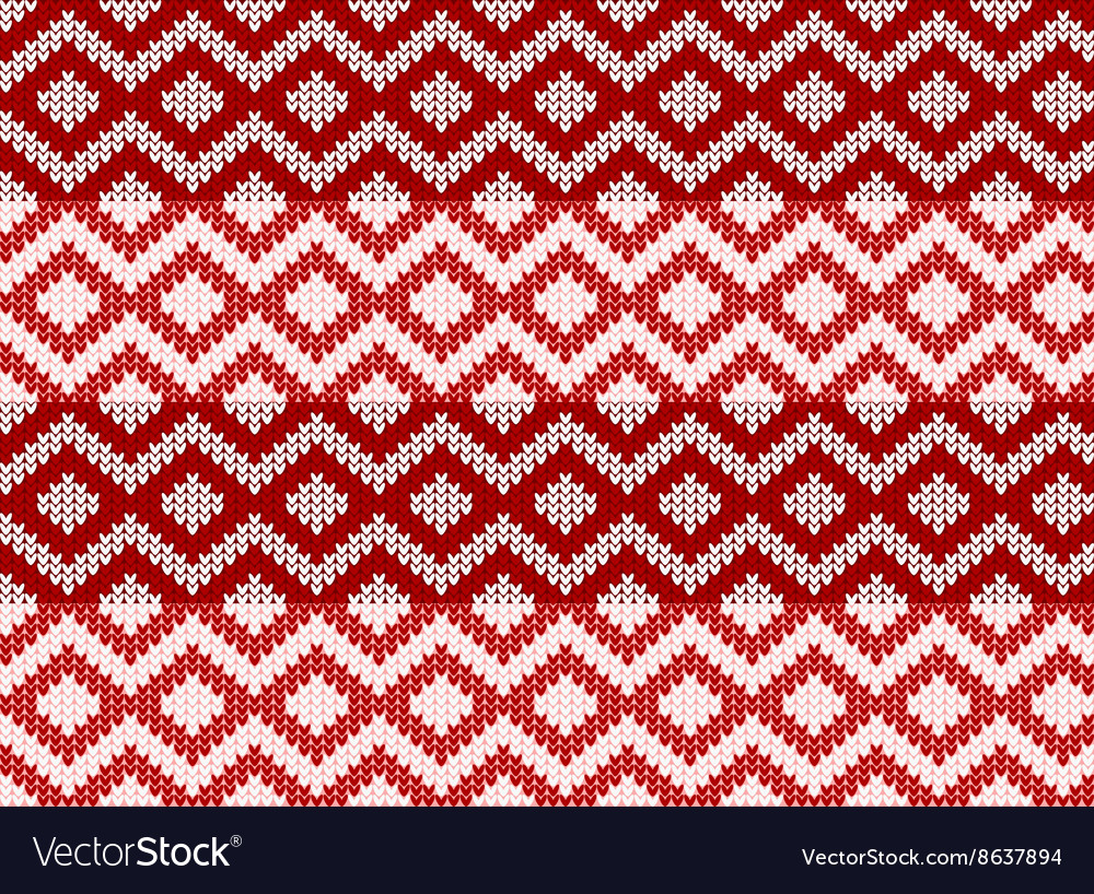 Seamless zigzag pattern sweater vector