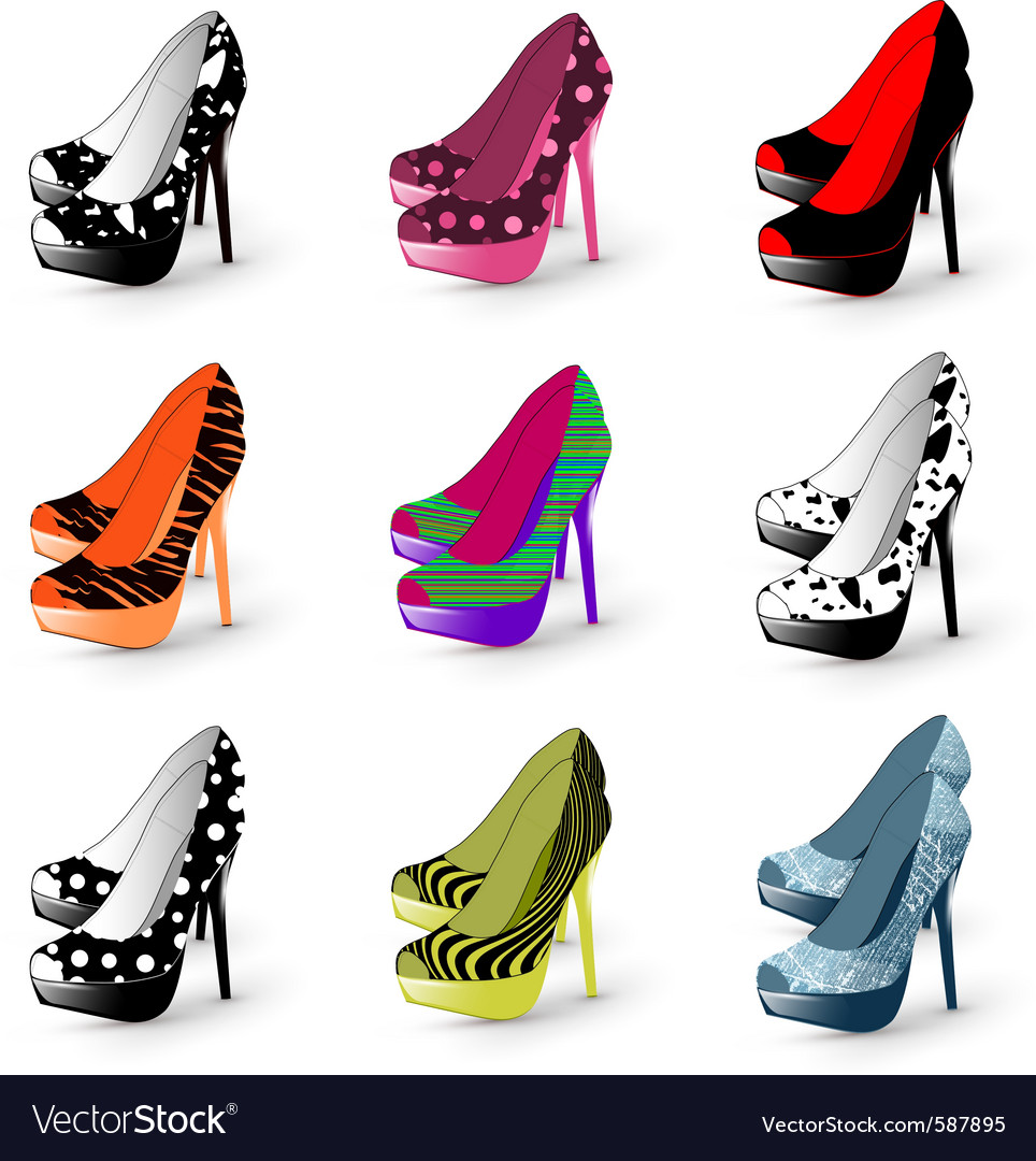 Fashion high heels vector