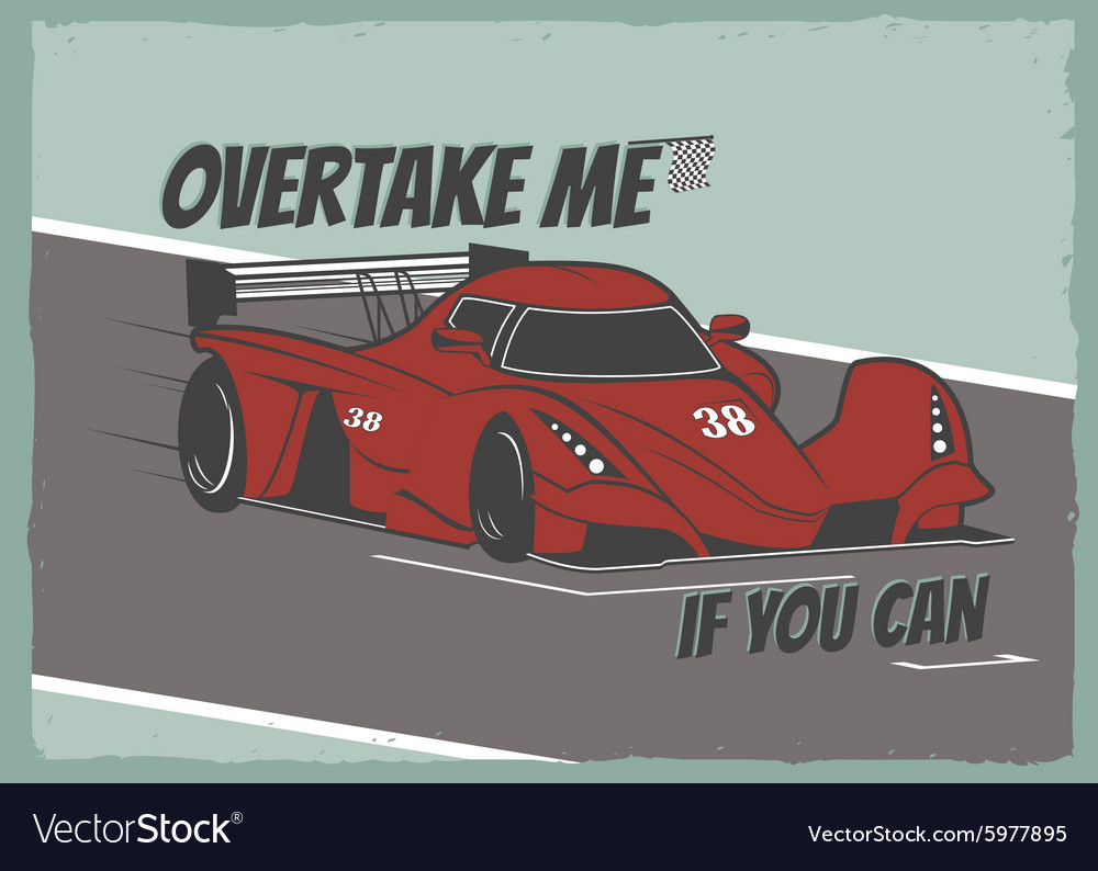 Race car poster vector