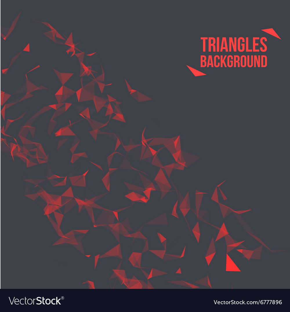 Wireframe polygonal background abstract form with vector