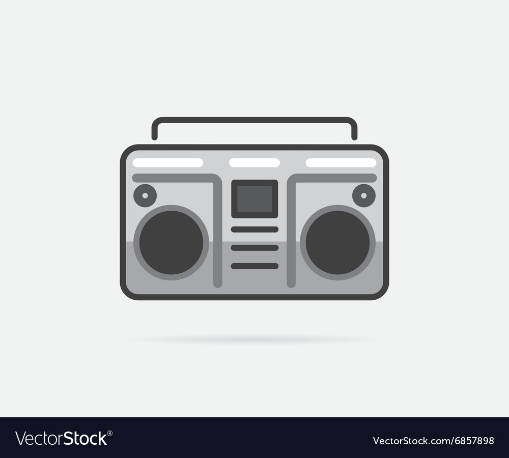 Boombox beach sea element summer or vacation vector