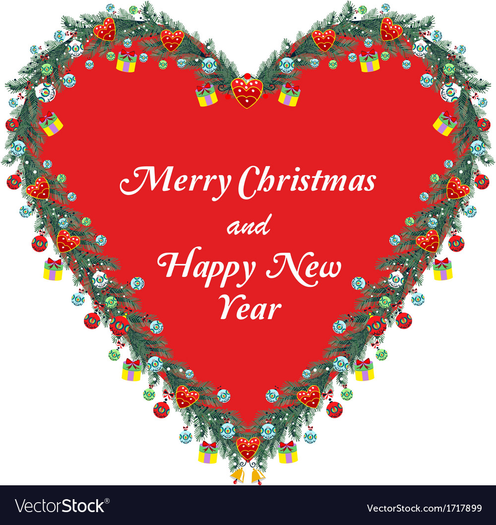 Christmas ornamental heart vector