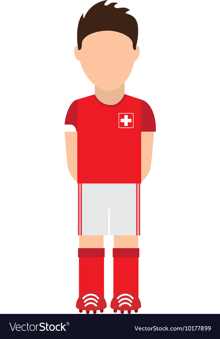 Swiss football player icon vector