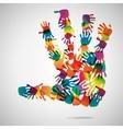Hand Print icon vector image vector image