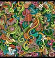 cartoon cute doodles hand drawn indian culture vector image