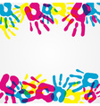 Multicolor diversity hands background vector image vector image