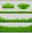 green grass borders isolated vector image vector image