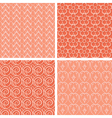 red seamless patterns vector image