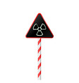 illustration the warning symbol of radioactive haz vector image vector image
